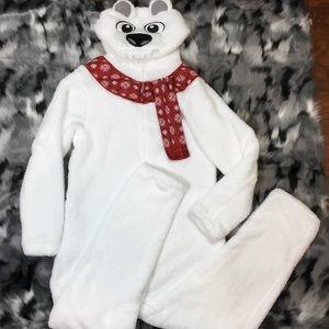 Polar Bear pajamas jumpsuit fleece Halloween XL
